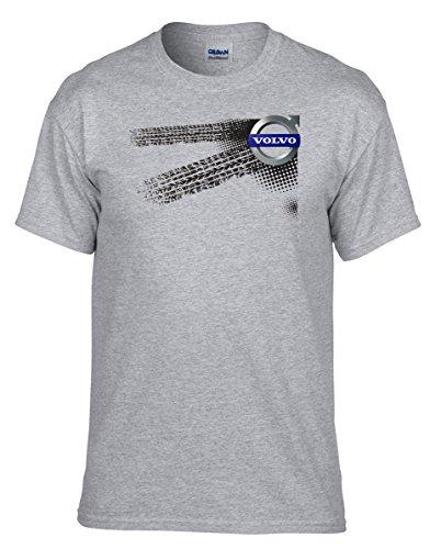 VOLVO - Auto Logo car Grau Fun T-Shirt -012 -Grau