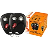 Discount Keyless Replacement Key Fob Car Entry Remote For Chevy Trailblazer GMC Envoy 15008008, 15008009 (2 Pack)