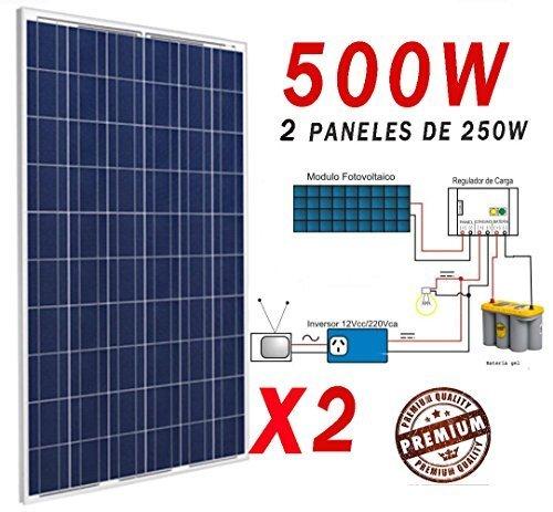 Solar 500W Solarpanel Photovoltaik Polycrystalline
