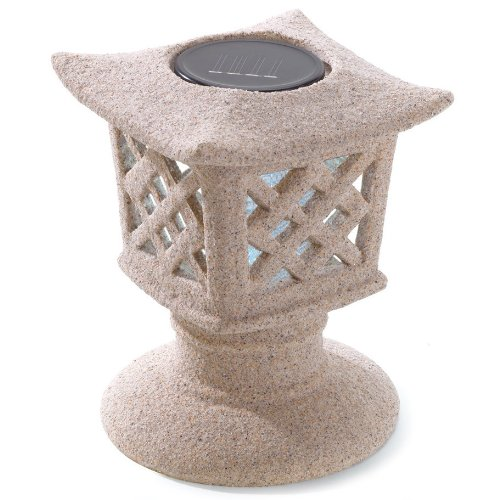 Solar Ceramic Pagoda Garden Light - Ceramic Pagoda Lantern