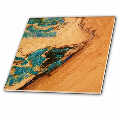 3dRose LLC Te by Tured in Turquoise 12-Inch Ceramic Tile (Ceramic Tiles Turquoise)