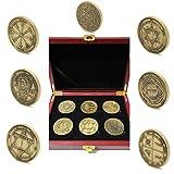 King Solomon Seal Coins Set Talisman Kabbalah 72 Names of God