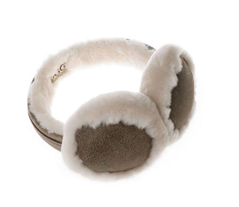 OZwear UGG Sheepskin Keep Warm Earmuffs Brown