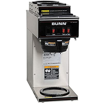 Bunn VP17-3 13300.0004 Low Profile Pourover Coffee Brewer with 3 Warmers (Bunn 13300.0004)