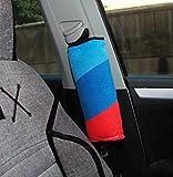 2pcs M-colored Stripes Children Car SeatBelt Pillow Seat Belt Car Decoration Pillow for BMW