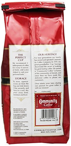 Community Coffee Ground Pecan Praline, 12 Ounce