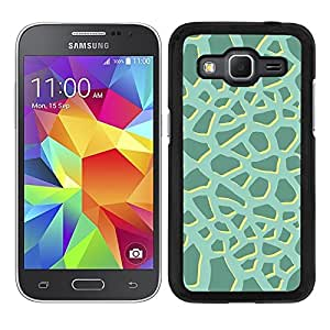 Funda carcasa para Samsung Galaxy Core Prime diseño ilustración estampado jirafa verde agua borde negro
