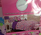 Mytex Hannah FULL Comforter Set With Decorative Pillow & Wall Decals
