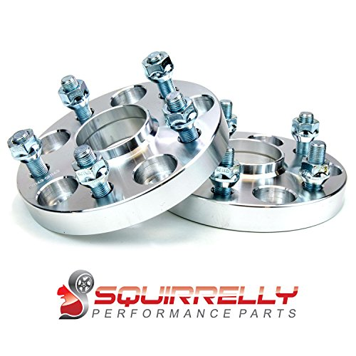 Squirrelly Hubcentric Wheel Spacers Adapters 5×114.3 / 12×1.25 / 56.1 Center Bore / 20mm Thick (2 Pack)