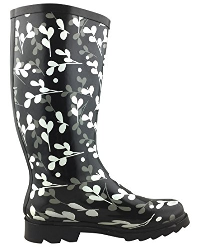 Waterproof Welly Leaves Colorful Pattern White Print Select Boots Cambridge Rain Women's xwq71PO