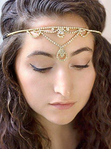 Gold Crystal Rhinestone Headband, Women's Fashion Headbands