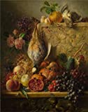 The Perfect Effect Canvas Of Oil Painting 'Georgius Jacobus Johannes Van Os-Fruit, Flowers And Game,about 1820' ,size: 16x20 Inch / 41x52 Cm ,this High Definition Art Decorative Canvas Prints Is Fit For Game Room Artwork And Home Decor And Gifts