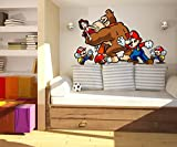 Super Mario Gorilla Game Full Color Wall Decal, Super Mario Gorilla Game Full Color Wall Sticker, K-940 FRST(52''X80'')