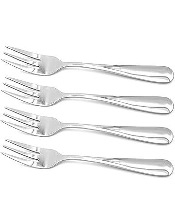 ERCENTURY Tenedores de acero inoxidable, de ensalada, de postre, de aperitivos, tamaño