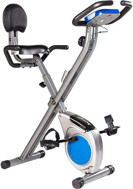 Moto Silenciosa Spinning, Bicicleta Estática Cubierta, Aparatos De Ejercicios, Magnetrón Bicicleta Estática,Bicicleta Estática Silencio De Soporte De Carga 120 Kg Plegable,Azul: Amazon.es: Deportes y aire libre