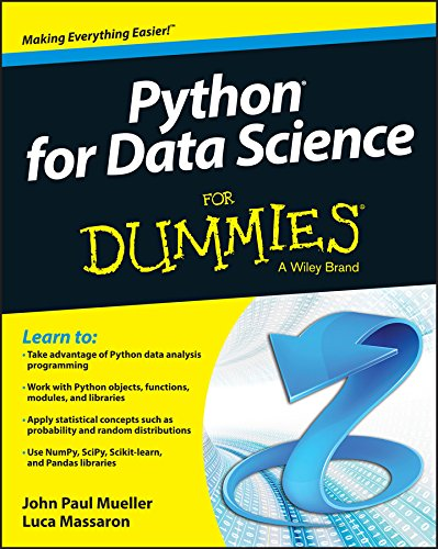 Book cover of Python for Data Science For Dummies by John Paul Mueller