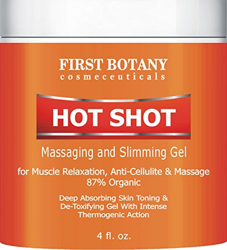 Hot Shot Slimming Gel and Massaging Gel 4 fl. oz Great for Muscle Relaxation and Massage Best Anti Cellulite Cream With Intense Thermogenic (Pain Control Cream)