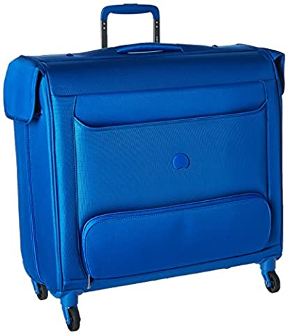 Delsey Luggage Chatillon Spinner Trolley Garment Bag, Blue - Tri Fold Tie Case