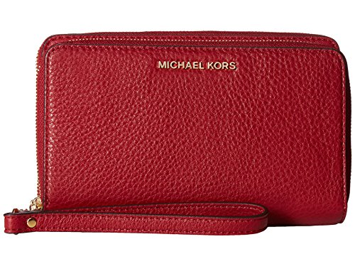 Michael Kors Adele Large Smartphone Wristlet in Cherry