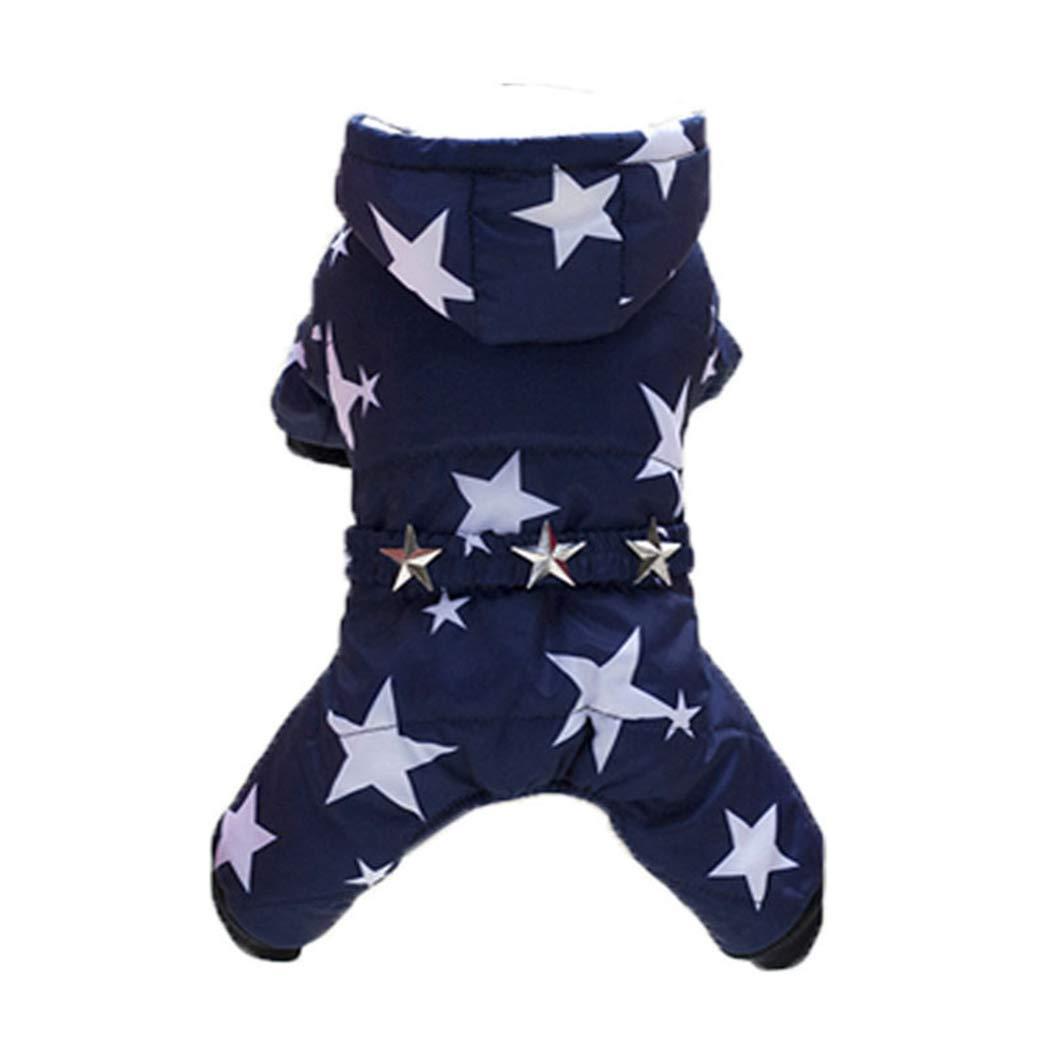 blueE L blueE L SENERY Winter Pet Dog Clothing,Warm Pet Down Jacket Puppies Small Dog Cotton-Padded Waterproof