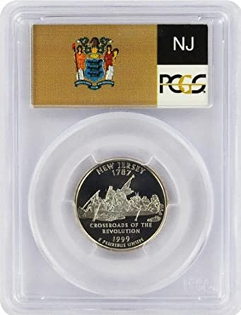 1999 New Jersey State Quarter Brilliant Uncirculated Coin