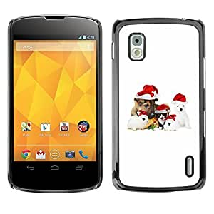 YOYO Slim PC / Aluminium Case Cover Armor Shell Portection //Christmas Holiday Cute Holiday Dog Puppy 1180 //LG Google Nexus 4
