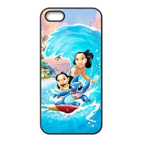 X2G22 Disney Lilo et Stitch R8U8CJ coque iPhone 5 5s cellulaire cas de téléphone couvercle coque noire KQ0YOY5RH