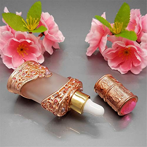 8G Vintage Glass Cream Jar 12Ml Frosted Oil Dropper Bottle Cosmetic Container With Metal Case Craft Gift 12ml bottle