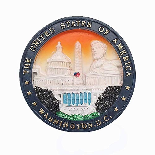 Washington, D.C. Capital de EE. UU. Imán de nevera 3D, pegatina de decoración para el hogar y la cocina
