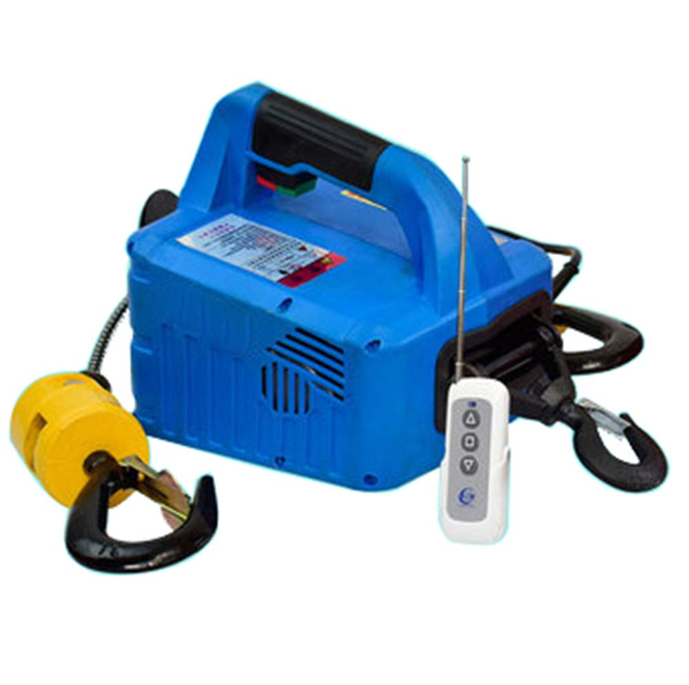 110V US Plug, Load 300KG NEWTRY 661LBS Lift Electric Hoist Crane 110V 11.8m 1500W Wireless Remote Control Electric Winch Overhead Lift with Overload Protection