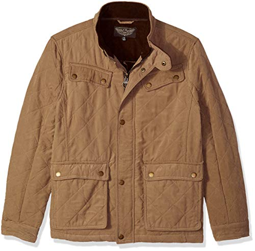 (Urban Republic Mens Microfiber/Quilted Fleece Jackets, Brown, M)
