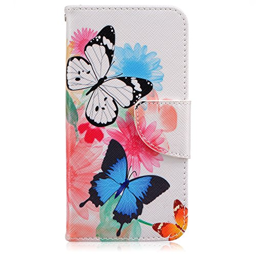 (S7 Case,Samsung Galaxy S7 Case, Liujie Premium PU Leather Flip Folio Carrying Magnetic Closure Protective Shell Wallet Case Cover for Samsung Galaxy S7 (big butterfly))