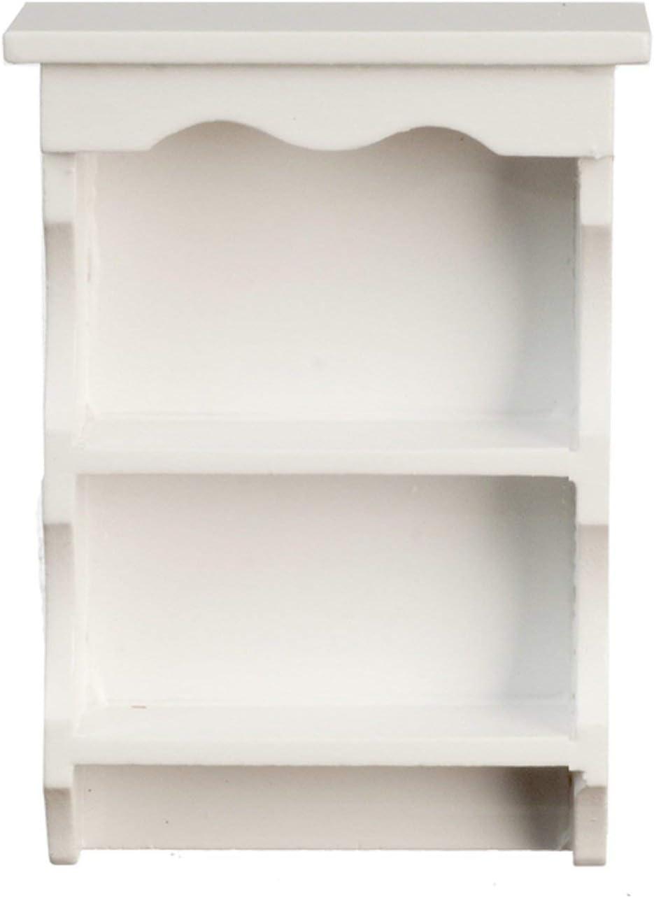 Melody Jane Dolls Houses Dollhouse White Sweetheart Country Wall Shelf Miniature 1:12 Shelf Unit