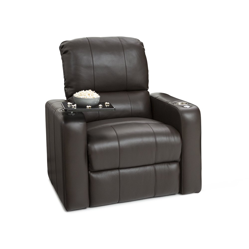 Seatcraft 88-2174-7284-3E Millenia Leather Power Recliner with USB Charging, Brown