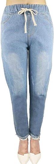 FRPE Women's Slim Fit Cotton Mid Long Button Down Denim Jean Jacket Outerwear