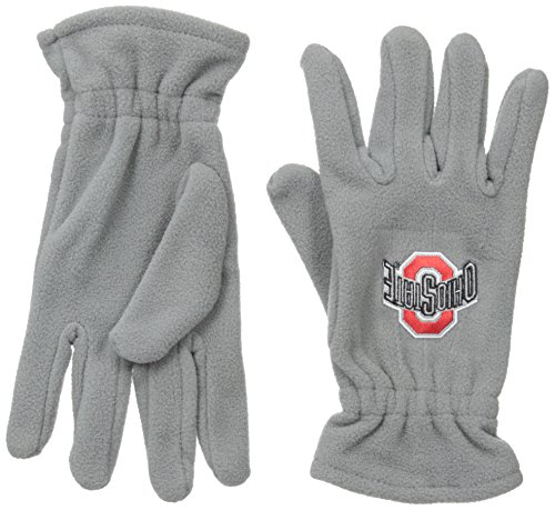 Donegal Bay NCAA Ohio State Buckeyes Gray Fleece Gloves, One Size, Red