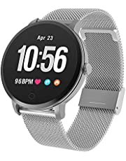 BingoFit Epic Smart Watch, Fitness Tracker Watch Waterproof IP67 Activity Tracker with Heart Rate Monitor,Calorie Counter,Sleep Monitor,Counter Pedometer Stop Watch for Women Men Call SMS Push for iOS Android Phone