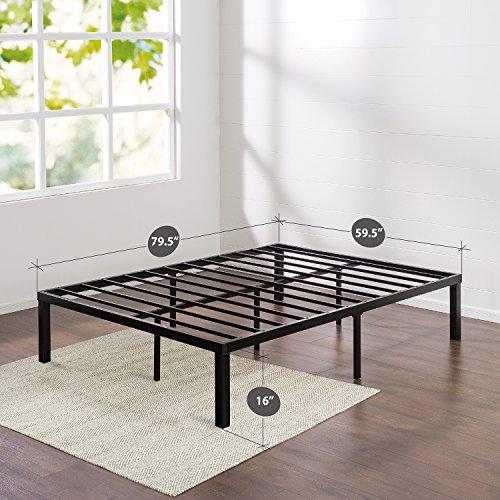 Zinus Quick Lock 16 Inch Metal Platform Bed Frame, Mattress Foundation, No Box Spring Needed, Queen