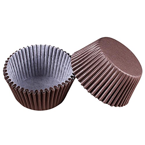 Leoy88 Multi Color Round Baking Paper Cake Liner Cake Muffin Case Moon Cake Box Paper Box Cup Cake Decorator Tool (Coffee) -