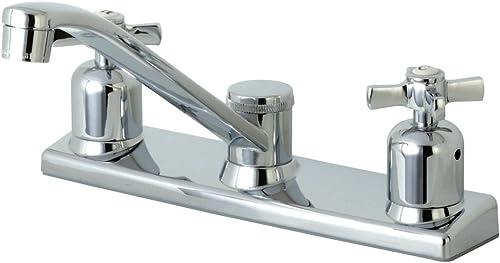 Kingston Brass FB121ZX Millennium 8-Inch Center set Kitchen Faucet, Polished Chrome