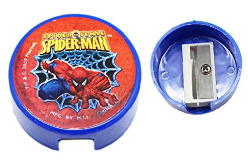 Spider-Man Spider Sense Blue and Red Colored Portable Pencil Sharpener (Spider Man Pencil Sharpener)