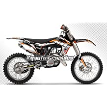 Kungfu Graphics 2011 2012 KTM 125 150 250 350 450 SX SXF XC XCF Sticker Sets for Motorbikes, White Number Plate, Bubble Free