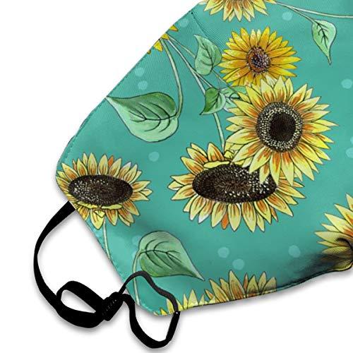 Befectar Unisex Prevent Air Pollution Face Mask Anti-Dust Pollen Smoke Washable Enjoy Clean Breathing Pretty Sunflower