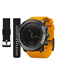 Suunto Traverse GPS Watch Amber and Black Replacement Band Bundle