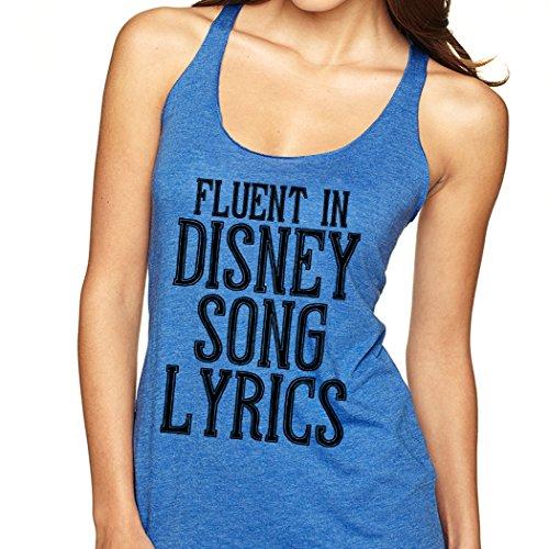 (SignatureTshirts Women's Fluent in Song Lyrics Tank Top Princess Singer)