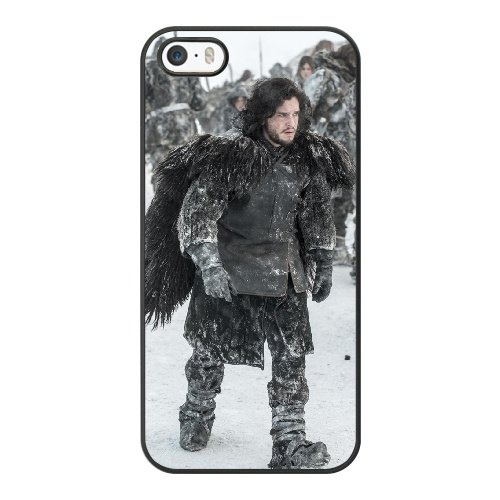 Coque,Coque iphone 5 5S SE Case Coque, Game Of Thrones Jon Snow Cover For Coque iphone 5 5S SE Cell Phone Case Cover Noir