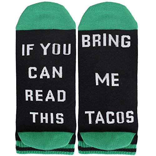 Mens Funny Words Food Combed Cotton Ankle Taco Socks If You Can Read This Funny No Show Socks
