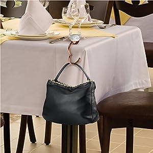 Fred Shine + Dine Oversized Diamond Ring Handbag Hook with LED Light, Rose Gold