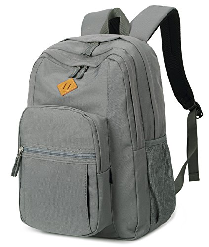 Abshoo Classical Basic Womens Travel Backpack For College Men Water Resistant Bookbag (Grey)