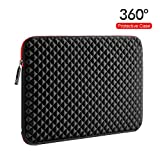 WIWU 17.3 Inch Diamond Laptop Sleeve Case with Water Repellent & Super Corner Protection Laptop Bag for MacBook Pro/Dell Inspiron/MSI/HP Pavilion/Lenovo/Acer(17.3 Inch, Diamond Black)